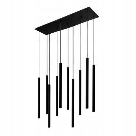 Czarna lampa wisząca tuba tuby 10 x G9 LASER BLACK X Nowodvorski 8923