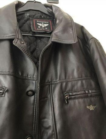 Куртка кожаная мужская Италия фирменная (пиджак, пальто) новая