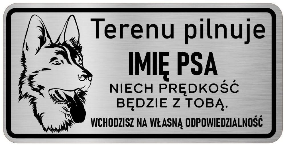 Tabliczka nierdzewna uwaga pies - Owczarek Niemiecki Środa Wielkopolska - image 1