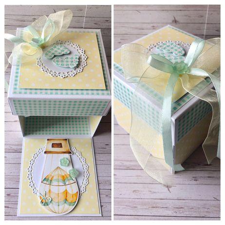 Pudełko/kartka z okazji narodzin dziecka/exploding box/prezent