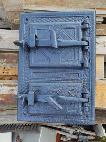 Piec kaflowy drzwiczki żeliwne