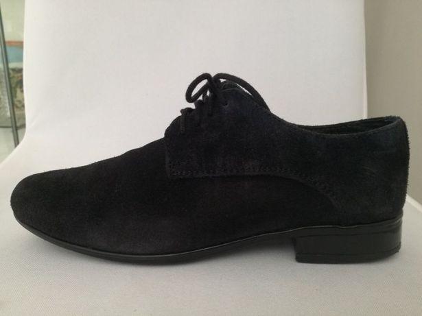 Buty komunijne chłopięce do I komunii przyjęcie skórzane wizytowe 34