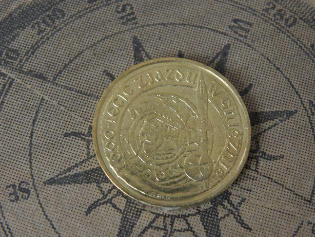 Moneta 2 zł 1000-lecie Zjazdu w Gnieźnie NG 2000 tysiąclecie 2 złote