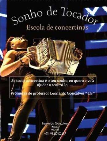 Aulas de concertina  ( Presencial e Video- aula )