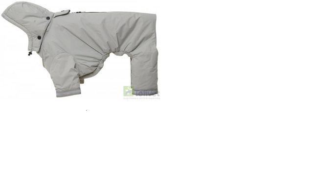Kruuse BUSTER Płaszcz przeciwdeszczowy dla psów Aqua L srebrny. Nowy