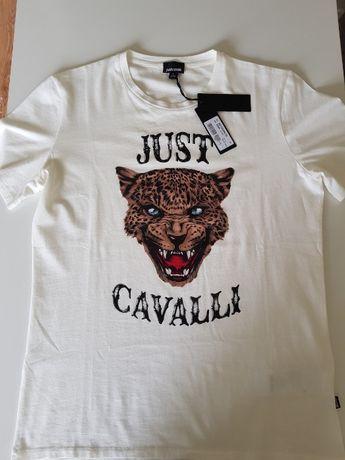 Just Cavalli Roberto Cavalli t-shirt koszulka NOWA ORYGINALNA r. L