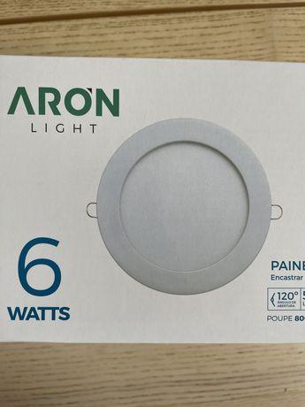 LED Apliques para encastrar painel redondo