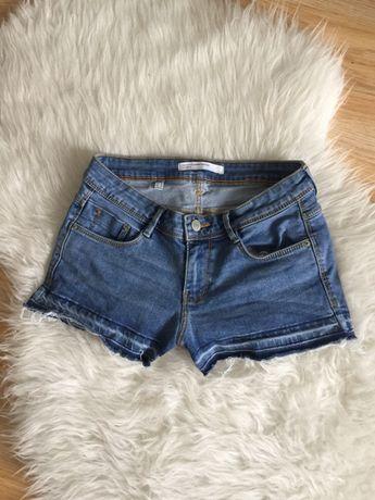 Szorty spodenki krótkie dzinsowe XS S M 34 36 38 zara jeansowe denim