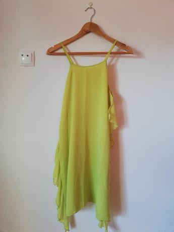 Vestido curto cor mostarda tamanho S/M - MOOW - NOVO