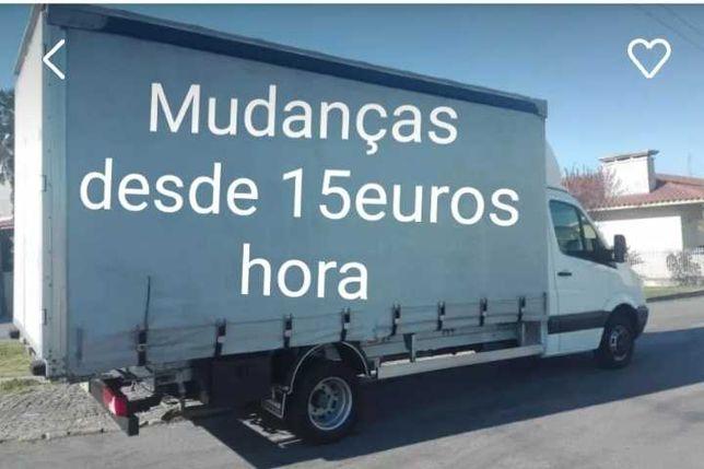Mudanças & Transportes Low-cost. Coimbra, C. Branco, Lisboa, Porto.