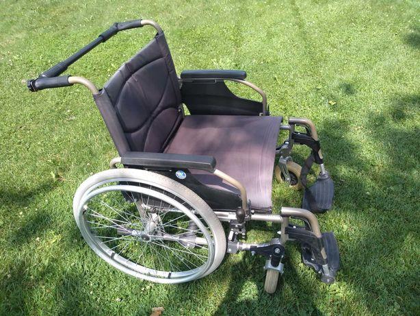 Szeroki wózek dla niepełnosprawnych  + laski gratis