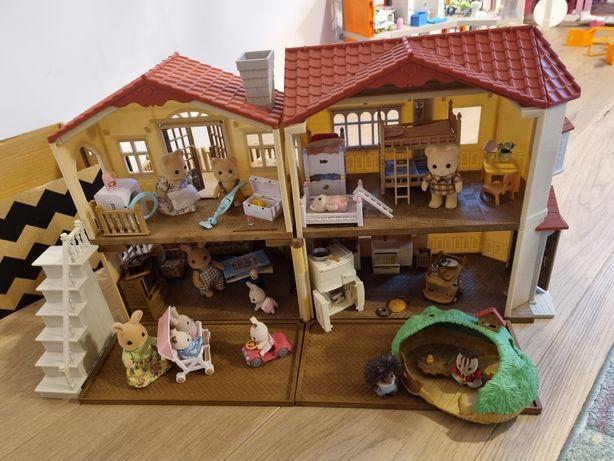 Duży domek sylvanian families+ dużo dodatków