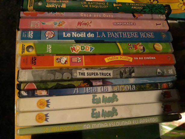 DVD de filmes infantis e outros