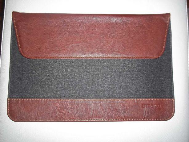 MAROO Syntetyczny brązowy skórzany i wełniany futerał -do  iPada