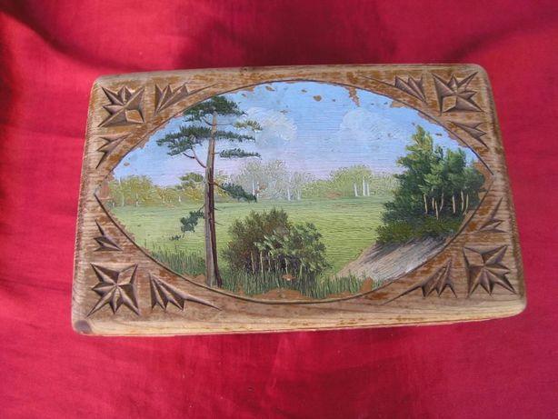 Шкатулка деревянная 50-60х
