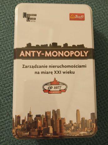 Gra planszowa Anty-Monopoly PL wersja podróżna Mini - nowa, folia