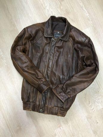 Кожаная куртка Versace оригинал