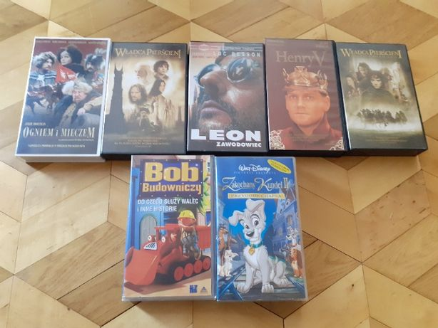 Kasety VHS Leon zawodowiec, Henry V, Ogniem i miecz