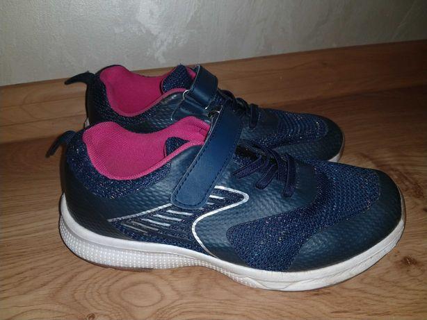Dziewczęce buty sportowe dla dziewczynki typu adidasy, rozmiar 34