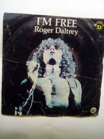 Vinil 45 rpm de Roger Daltrey, I'm free