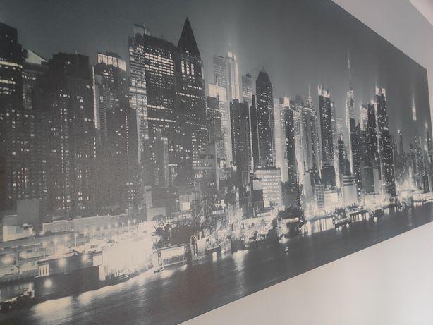 Obraz na płótnie czarno biało szary 150×60