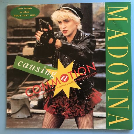 """Madonna - """"Causing A Commotion"""" Maxy-single 1987 (Portugal)"""