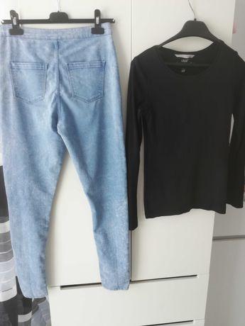 Spodnie z wysokim stanem  bluzka H&m