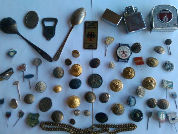 Starocie Wykopki szufladowe monety,otwieracz,Stanley,zegarek i inne