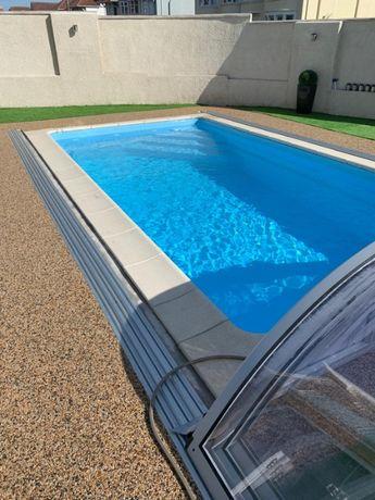 Basen ogrodowy kąpielowy poliestrowy gotowy Zestaw 5x3,2 PRODUCENT