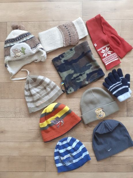 Шапка зимняя весенняя шапочка 2-4-6-8-10 лет Маквин перчатки бафф