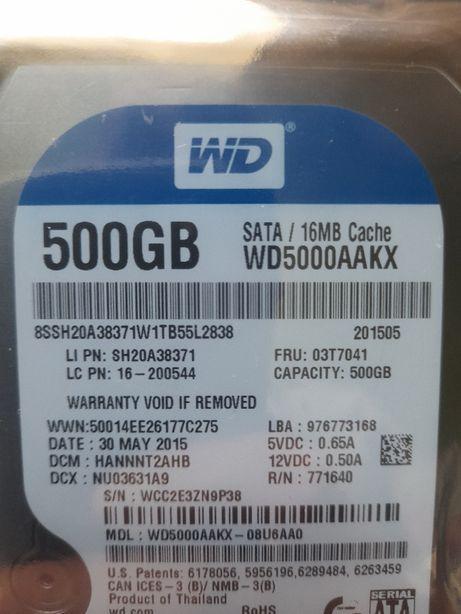 Dysk Twardy WD HDD 500GB Serial SATA 3,5'' komputer PC