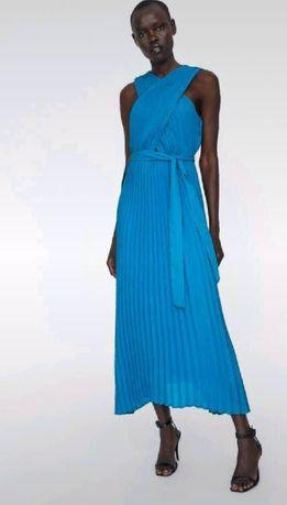 Nowa niebieska sukienka Zara r XL