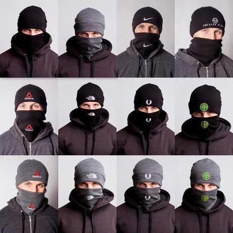 Шапка + Баф + рукавиці The North Face / Stone Island Fred Perri Nike