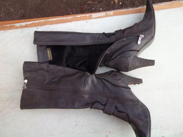 сапоги женские осенне весенние черные состояние хорошее 37 размер носи