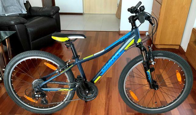 """GIANT rower dziecięcy XTC 24"""" JR + bezprzewodowy licznik z Decathlon"""