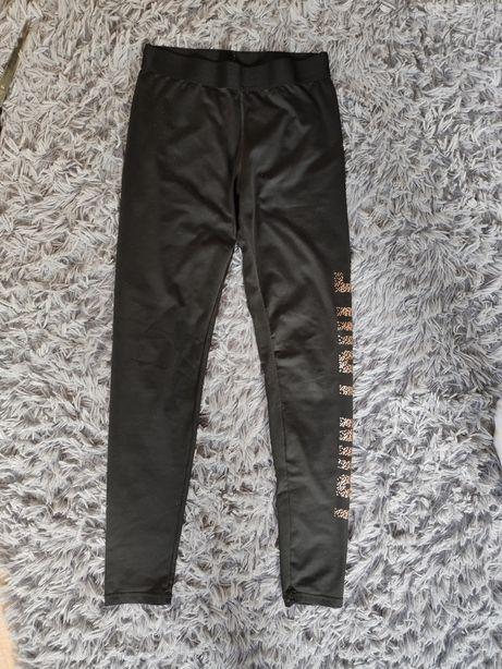 Damskie czarne legginsy H&M r.170, CRAFT r. M
