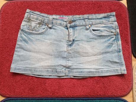 Jeansowe mini, roz 40