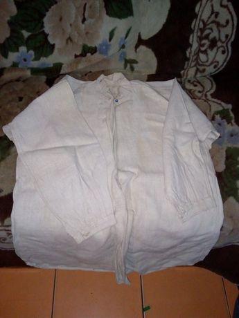 Старовинна конопляна чоловіча сорочка !!!