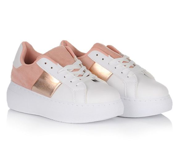 Белые женские кроссовки на шнуровке осенняя обувь 36 37 38 39 40 41