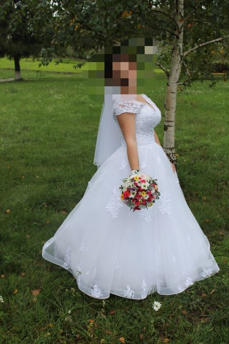Продам весільне плаття б/у Половинчик - изображение 1