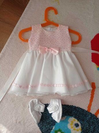 Sukieneczka do Chrztu + buciki gratis