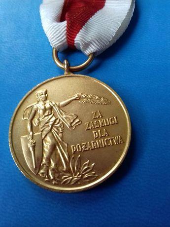 Oryginalny Złoty Medal za Zasługi dla Pożarnictwa !!!