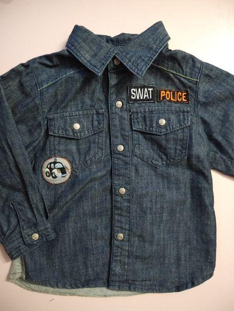 Koszula jeansowa 80/86