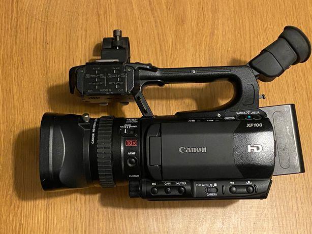 Kamera Canon XF100 2x32GB Rode NTG-1 walizka