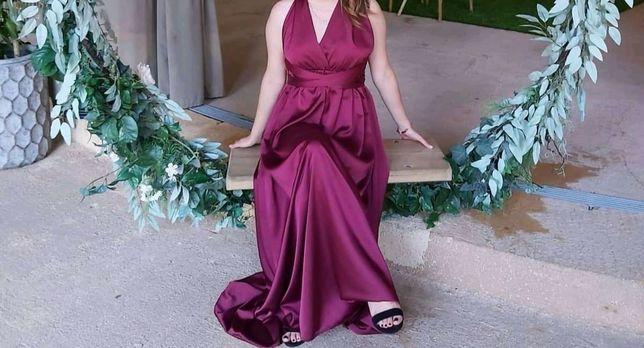 Vestido bordo gala