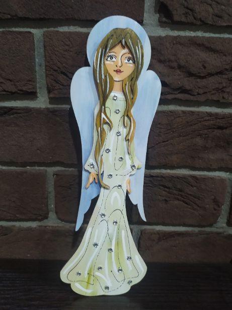 Aniołek drewniany handmade
