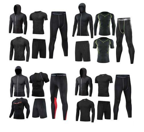 Компрессионная одежна 5 в 1 рашгард, леггинсы, футболка, шорты и худи.