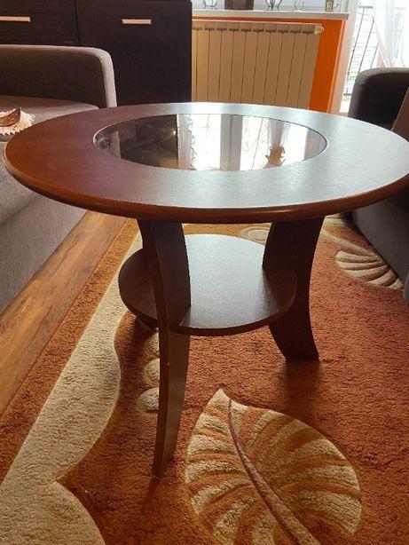 Brązowy stolik kawowy
