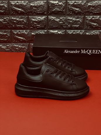 Кожаные туфли кеды кроссовки Александер Макквин Alexander McQueen шкір