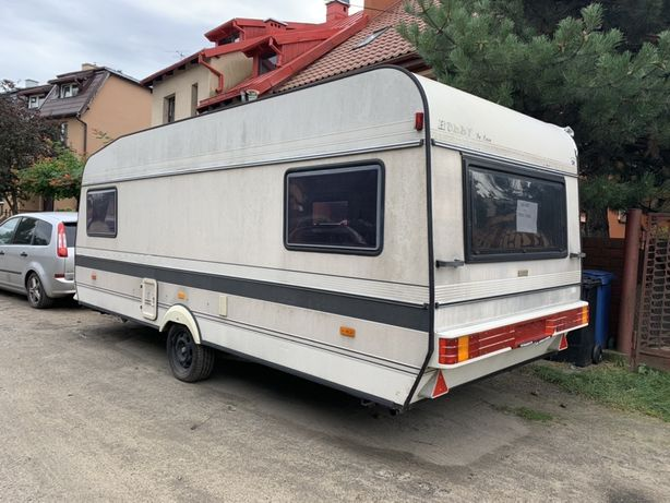 Przyczepa Hobby 530 ladna sucha namiot markiza